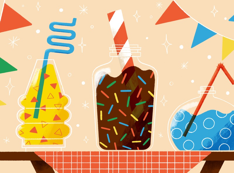 Grandma's Kitchen illustration for motion school of motion smoothie drinks layout drink digital illustration robin sheldon illustration