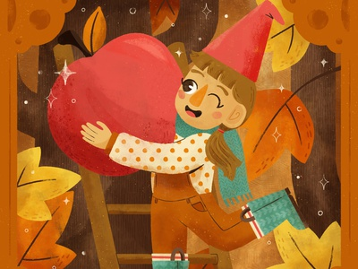 Orchard, Peachtober 2020 orchard character design cottagecore gnome character autumn fall digital illustration digital cute design illustration robin sheldon