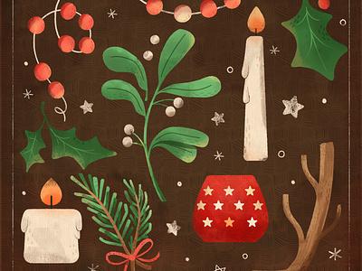 Winter Solstice nature holiday christmas winter winter solstice digital digital illustration design robin sheldon illustration