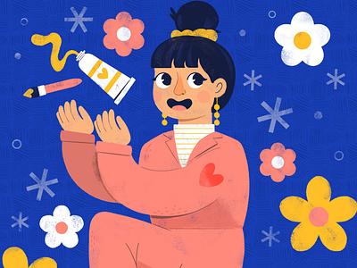 DTIYS schrillxflp character digital digital illustration cute design robin sheldon illustration schrillxflp