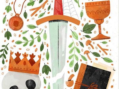 OMNIUM RERUM PRINCIPIA PARVA SUNT thetomb tomb lightgreyartlab lgal zine digital digital illustration robin sheldon illustration