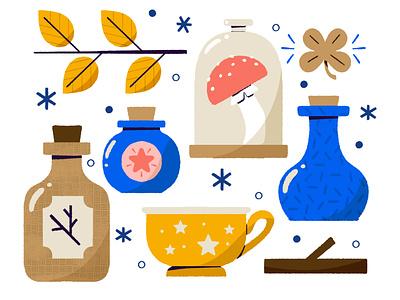 ✨Get Crafty✨ halloween potion mug witchcraft witch crafty craft icon digital digital illustration cute design robin sheldon illustration