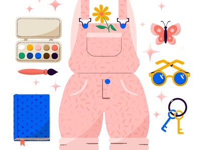 ✨✏️Go Create 🖌✨ artist art creative create summer paint icon cute digital digital illustration design robin sheldon illustration