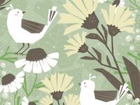 Moody Botanical - Bird Scene