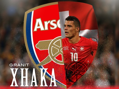 Granit Xhaka Euro 2016 design soccer football euro2016 photoshop