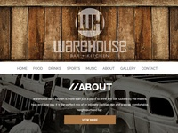 Warehouse Bar + Kitchen Website