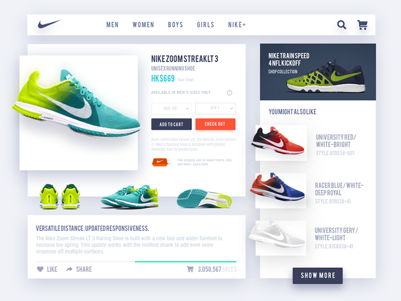 Nike Product Page Concept shoes ui page product nike