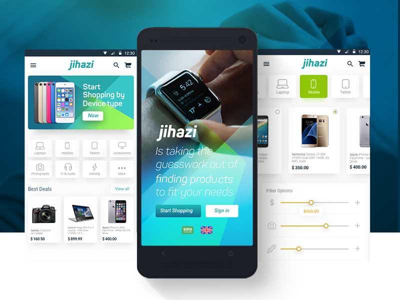 Jihazi , Electronics Ecommerce App app ecommerce android mobile