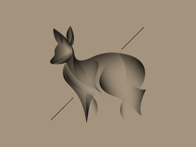 moschus fuscus character deer identity photographer logo brand