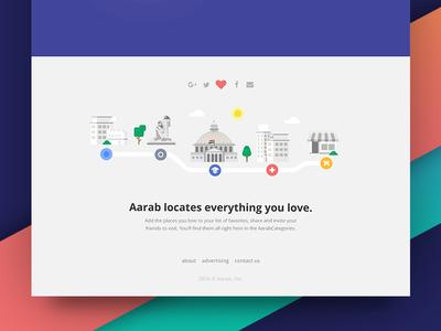 Aarab app landing page