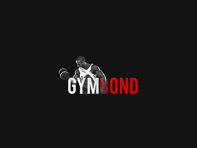 Gym Bond icon fitness trainer identity gym logo brand