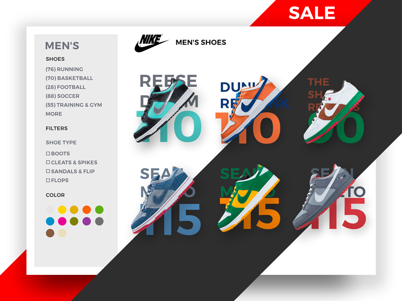 NEW NIKE FILTER EXPERIMENT experiments sale ecommerce nike