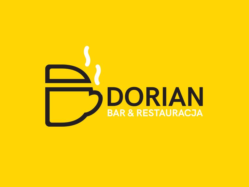 Dorian Bar & Restaurant home drinks food branding agency brand design business vapors pot yellow white black typography 2kropek branding studio logo bar restaurant
