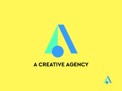 A Creative Agency New Logo creative digital agency icon app typography ux vector branding ui logo illustration design