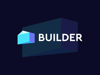 Builder logo design builder ui vector logo illustration icon digital agency design creative app branding