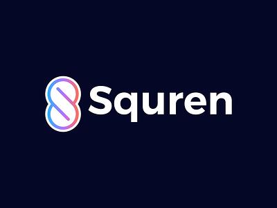 Squren logo ui vector logo illustration icon app digital agency design creative branding
