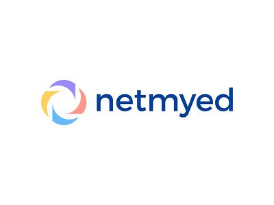 netmyed Logo netmyed logo ui vector logo illustration icon digital agency design creative app branding