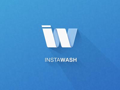 Instawash on-demand o2o carwash instawash symbol logo bi ci