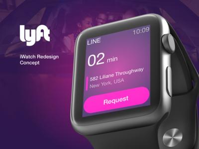 Lyft iWatch Redesign Concept