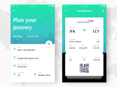 Flight Booking Concept (Freebie) ux ui concept freebie app seat airplane booking flight
