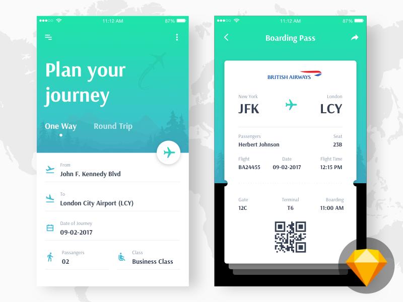 Flight Booking Concept (Freebie)
