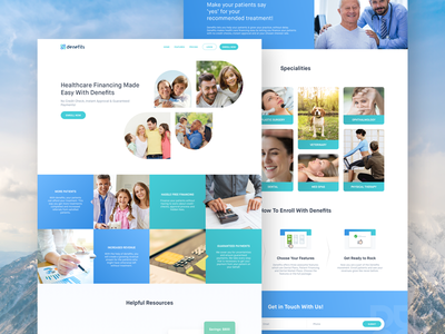 Denefits Doctor Website mockup ux ui denefits landing home website