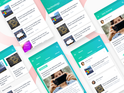 News Feed Material App Concept card app ux ui material concept article feed news