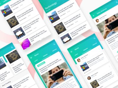 News Feed Material App Concept card app ux ui material concept article feed news