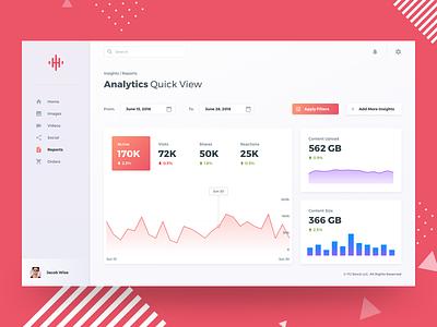 Dashboard Analytics YU upload web stats menu dashboard date ux ui data report graph analytics