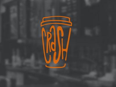 Crush is a youth coffee shop coffee maker, meeting and lecture s design coffee branding logo graphic design