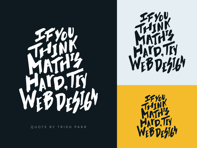 T-shirt Print shirt print tees tshirt print web design inspiration quote math yellow black font style font inking ink drawing vector typography
