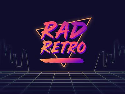 Rad Retro (Video-game Arcade Logo) rebound shots dribbble shots typography typ vintage 80s 90s video game logo arcade logo retro logo gaming logo gaming rad neon arcade video game retro graphic design branding logo