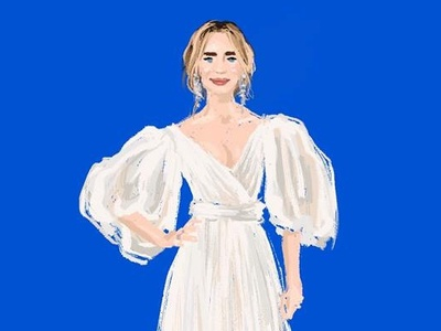 Illustration of Emily Blunt (Mary Poppins premiere)