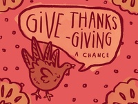 Give Thanksgiving a Chance illustration