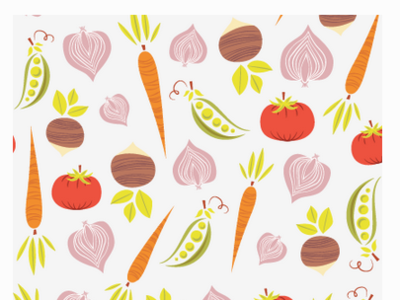 Veggie Pattern Illustration atlanta designer atlanta artist atlanta pattern a day adobe illustrator produce vegetables veggie art veggie illustration food illustration food art food and drink food veggies surface design pattern