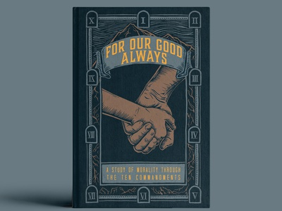 For Our Good Always Cover design illustration church logo for our good always ipad drawing engraving drawing hands sermon series wood etching wood engraving cover design book cover