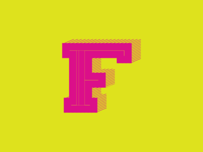F by Bill Cindrich  via dribbble