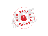 ACE Red Vest Approved Logo