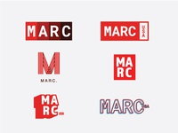 MARC USA Rebrand vector illustration agency branding logo concept advertising design graphic design art direction