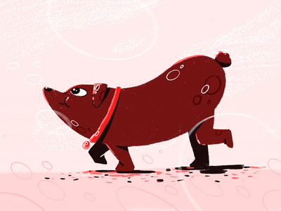 Sausage dog procreate good boy doggy doggie dog sausage dog sausage