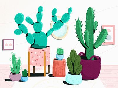 cacti illustraion plant plants cactus cacti fireart studio fireart