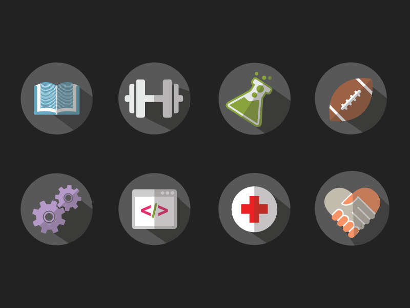 Icons angular dribbble
