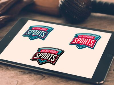 All High School Sports Branding sports brand logo