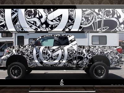 Olley Truck Fleet Wraps sports truck design wrap