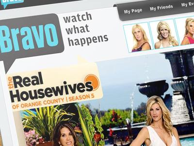 NBC Universal Bravo Network web design nbc bravo tv