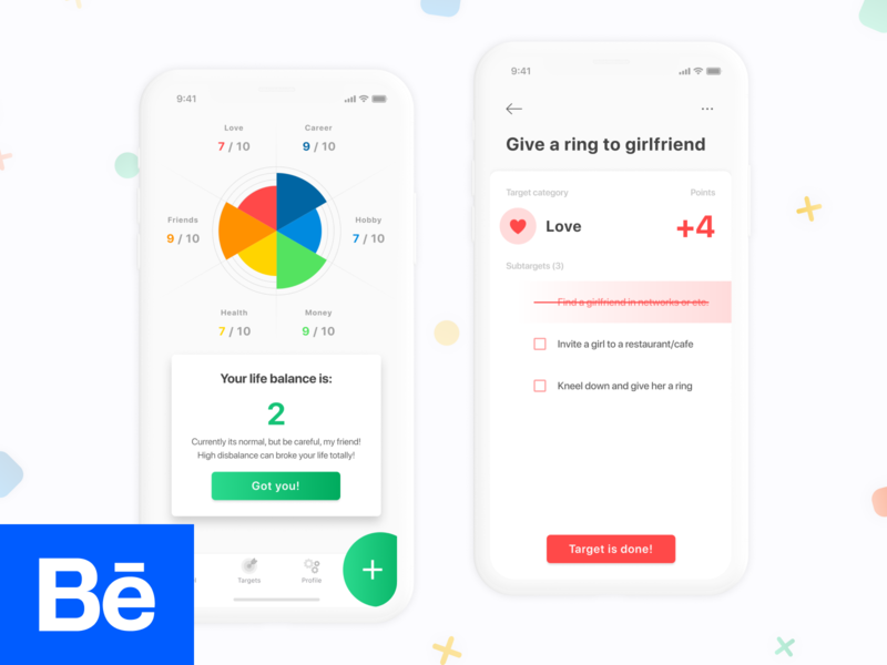 New Life Wheel lifestyle interaction ux ui ios design android design app  design behance app