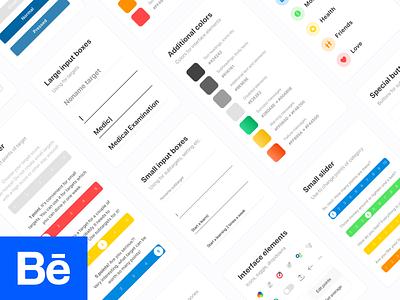 New Life Wheel UI Kit ux ui lifestyle design ios interaction behance app design app android design