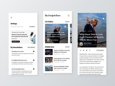 Newspaper app design newspaper news mobile office design ios interface ux ui app