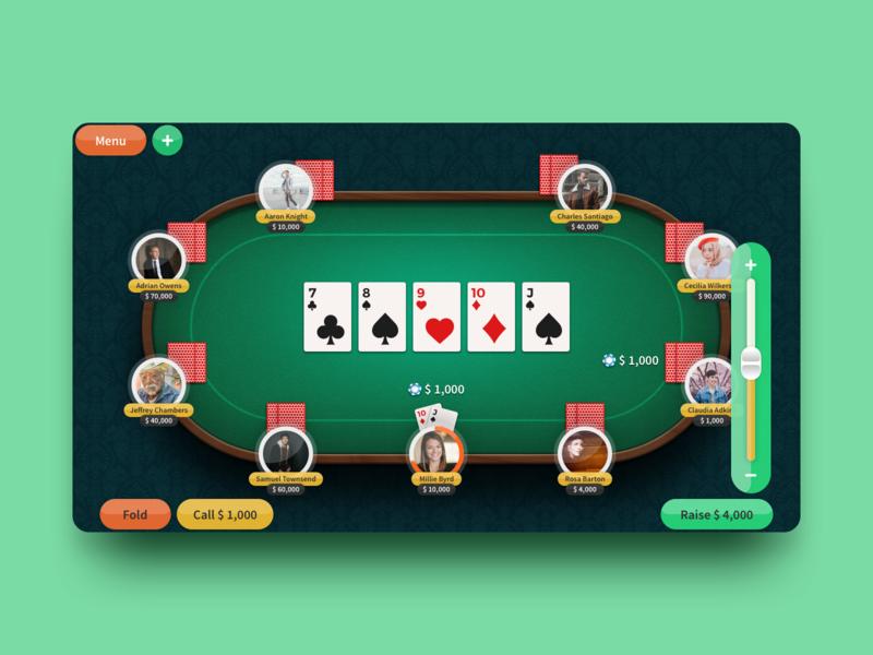 Pocker Game UI - Exploration ui element game poker ui
