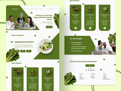 Restaurant Landing Page design green vegetable web design ui restaurant landing page